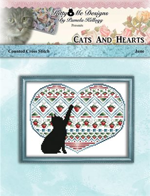 Cats And Hearts June Cross Stitch Pattern
