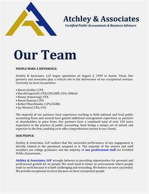 Atchley & Associates LLP: Our Team