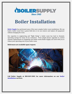 Boiler Supply: Boiler Installation