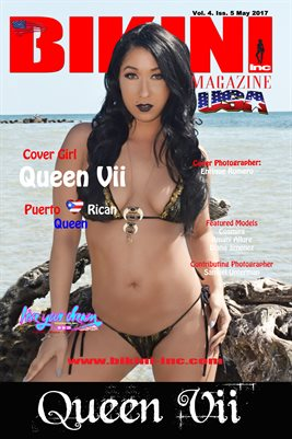 BIKINI INC USA MAGAZINE COVER POSTER - Cover Girl Queen Vii - May 2017