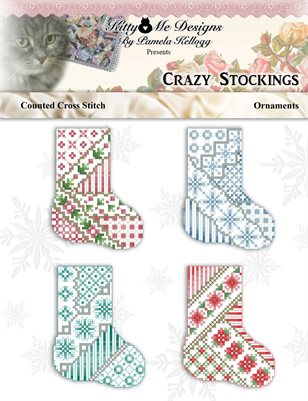 Crazy Stockings Cross Stitch Ornaments