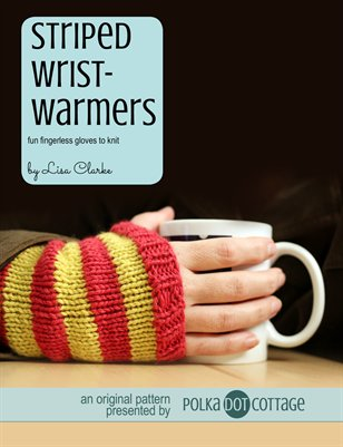 Striped Wristwarmers Knitting Pattern