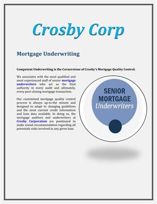 Crosby Corp: Mortgage Underwriting