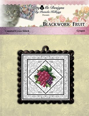 Blackwork Fruit Grapes