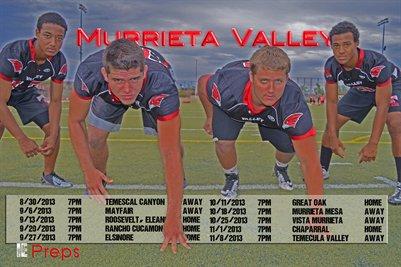 Murrieta Valley Schedule