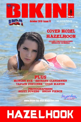 BIKINI INC USA MAGAZINE COVER POSTER - Cover Model HazelHook - October 2019