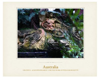 Australia - Melbourne -William Ricketts -Forest- sculptures