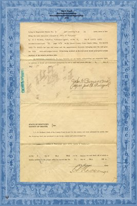 (PAGES 3-4) 1923 Deed John G. Puryear to C.C. Wyatt, Graves County, Kentucky
