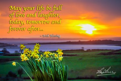 Irish Blessing Poster, May Your Life Be Full of Love and Laughter, Poster Print
