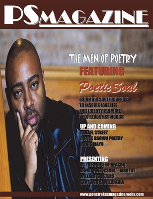 MEN OF POETRY EDITION OF PEN STROKES MAGAZINE....POETICSOUL COVER