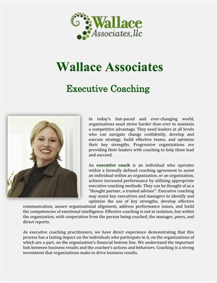 Wallace Associates: Executive Coaching