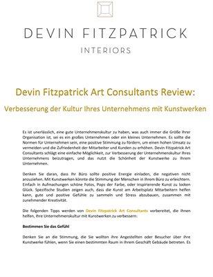 Devin Fitzpatrick Art Consultants Review: Verbesserung der Kultur Ihres Unternehmens mit Kunstwerken