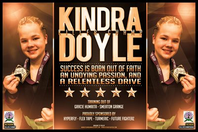 Kindra Doyle Gold Motivation - Poster