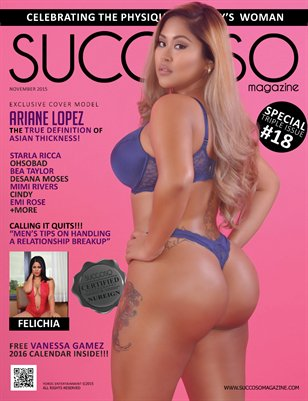 Succoso Magazine Triple Issue #18 featuring Cover Model Ariane Lopez