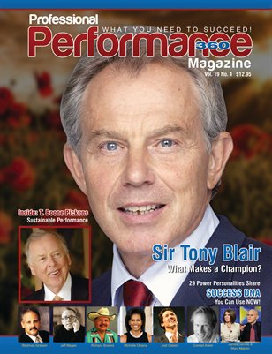 Tony Blair/T. Boone Pickens Edition - PERFORMANCE/P360 Magazine, V. 19, I. 4