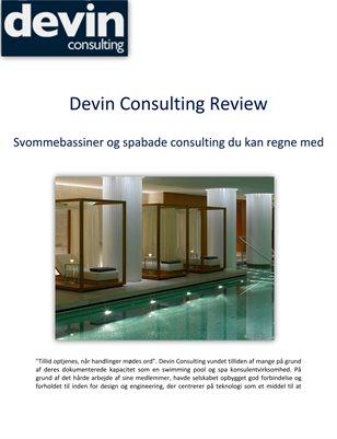 Devin Consulting Review: Svommebassiner og spabade consulting du kan regne med