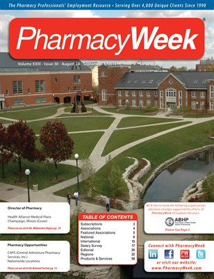 Pharmacy Week, Volume XXIII - Issue 30 - August 24 - September 6, 2014