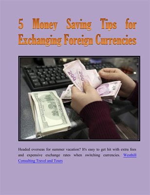 5 Money Saving Tips for Exchanging Foreign Currencies