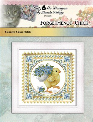 Forgetmenot Chick Cross Stitch Pattern