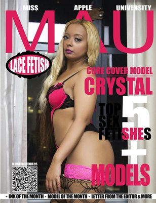 LACE FETISH cover model Crystal