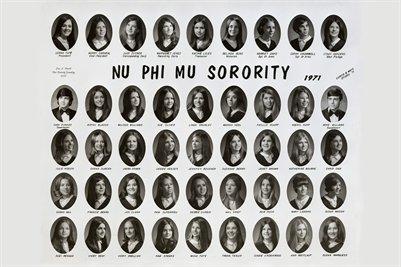 1971 Nu Phi Mu Sorority