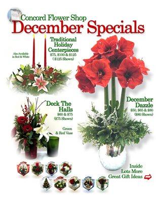 December Flower Specials