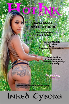 HOT INK MAGAZINE COVER POSTER - Cover Model Inked Cyborg - Oct 2018