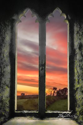 Sunrise at Medieval Clare Abbey, Poster