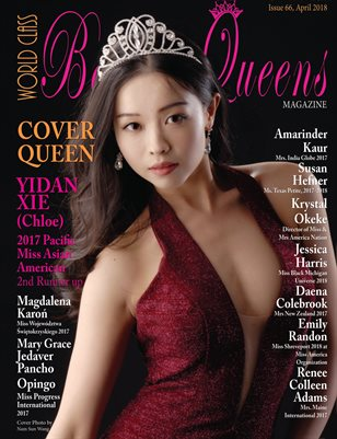 World Class Beauty Queens Magazine Issue 66 with Yidan Xie