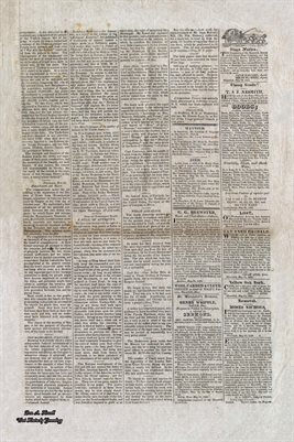 PAGES 3-4 OF JUNE 1ST, 1822, HAVERHILL-GAZETTE, MASS. NEWSPAPER