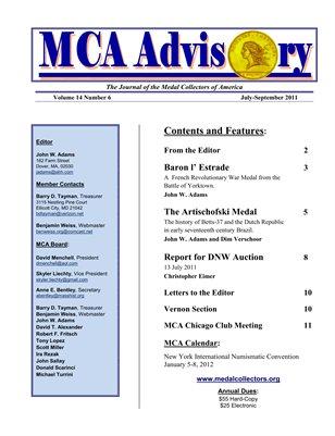 MCA Advisory Volume 14 No. 6