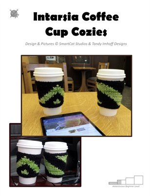Intarsia Coffee Cup Cozies