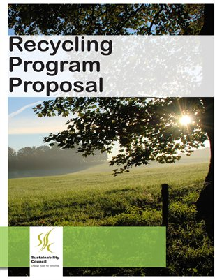 CHS Sustainability Council - Recycling Program Proposal
