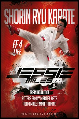 JESSIE MILES RED KARATE POSTER