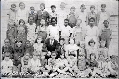 Feb. 1934 Mermet IL., School, Grades 1-8