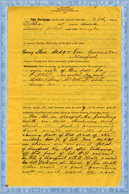 (PAGES 1-2) Mortgage, Mary McNutt to Y.M.B.H. Assn., Graves County, Kentucky