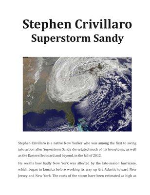 Stephen Crivillaro - Superstorm Sandy