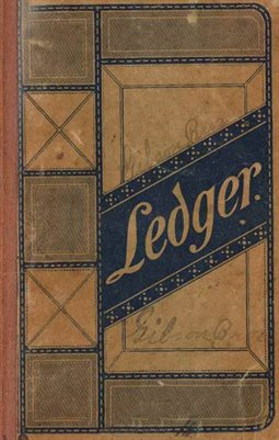 1893-1895 GIBSON BROTHERS LEDGER, DUBLIN, GRAVES COUNTY, KENTUCKY