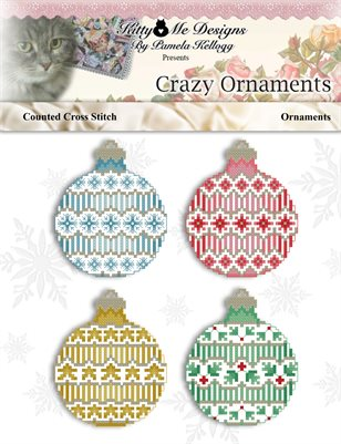 Crazy Ornaments Counted Cross Stitch Pattern