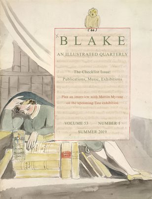 Blake/An Illustrated Quarterly vol. 53, no. 1 (summer 2019)