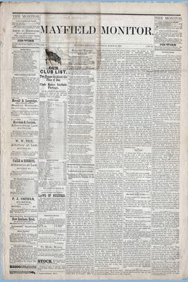 (Pages 1-2) Mayfield Monitor, MARCH 22, 1879