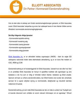 Elliott Associates: Din Partner i Kommersiell Eiendomsforvaltning
