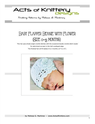 Baby Flapper Beanie with Flower Crochet Pattern