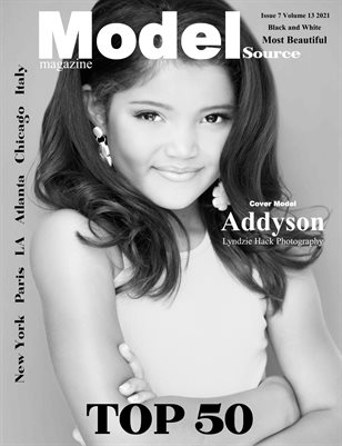 Model Source Magazine Issue 7 Volume 13 2021 BW Most Beautiful Top 50