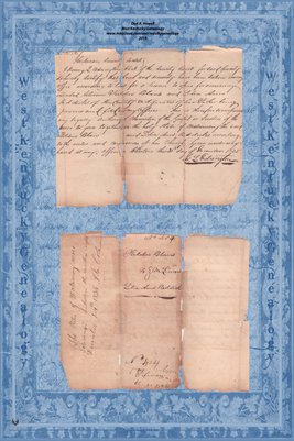 1835 Marriage Record, Fielden Blan and Lidia Ann Reddick , Hickman County, Kentucky