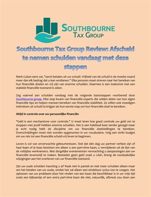 Southbourne Tax Group Review: Afscheid te nemen schulden vandaag met deze stappen