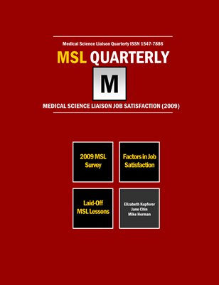 MSL Job Satisfaction 2009