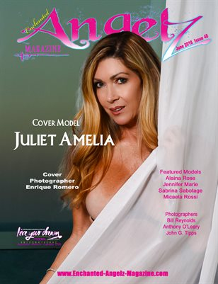 ENCHANTED ANGELZ MAGAZINE - Cover Model Juliet Amelia - June 2018