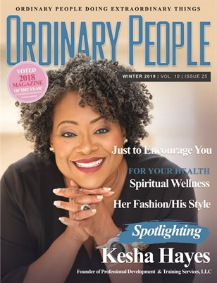 Ordinary People Magazine - Winter 2019 - Vol 10 | Issue 25