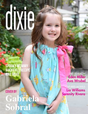 Dixie Magazine - October 2017 Vol. 1 Cover Model Sophie Dunn